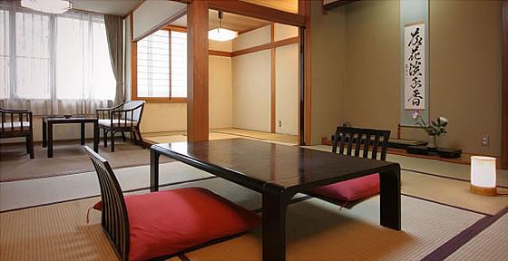 猿ヶ京温泉 湯豆のやど 本伝 一般客室イメージ 和室10+6畳次の間・内湯付