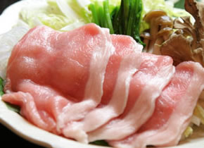 猿ヶ京温泉 湯豆のやど 本伝 料理長おすすめ モチ豚しゃぶしゃぶプラン